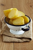 New potatoes (variety Ditta) in a colander