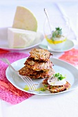White cabbage cakes with quark and flax oil
