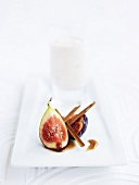 Fig dessert with cinnamon