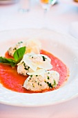 Malfatti (ricotta dumplings in tomato sauce, Lombard, Italy)