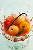 Fruit pickled in sauternes