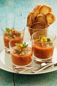 Gazpacho in glasses