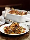 Chicken casserole with vegetables