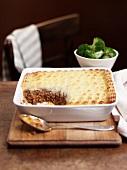 Shepherd's Pie (ground beef-mashed potato casserole, Engladn)