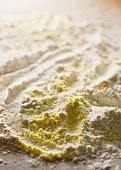 Verschiedene Mehlsorten, vermischt
