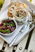 Rabbit terrine with green salad