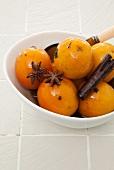Mini oranges in brandy