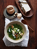 Zuppa matrimoniale (wedding soup with chicken dumplings)