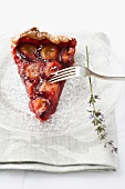Plum cake with lavender
