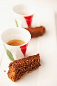 Espresso and chocolate cake