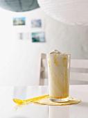 An ice cream shake