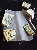 Various types of blue cheese