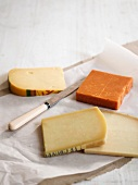 Four types of hard cheese