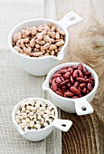 Pinto beans, kidney beans and black-eyed peas