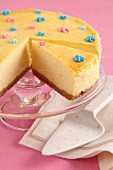 Cheese cake with mascarpone and oranges