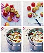 Apfelsirup zubereiten
