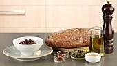 Zutaten für Crostini mit Olivenpaste
