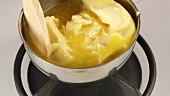 Butter being melted in a pot