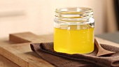 A jar of ghee (clarified butter)
