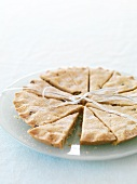 Shortbread biscuits on a glass plate as a gift