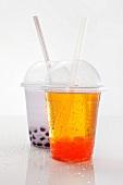 Bubble Tea in Plastikbechern