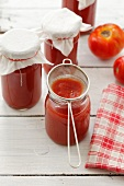 Homemade tomato puree