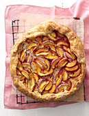 Nectarine and almond tart (seen from above)