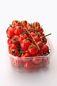 Cherry tomatoes in a plastic punnet