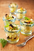 Mussel salad with white turnips