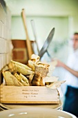 Pane carasau (unleavened bread), Sardinia, Italy