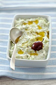 Tzatziki (cucumber yoghurt with olive oil, Greece)