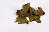 Preserved vine leaves