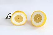 A halved citron