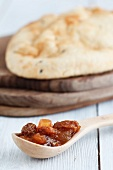 Tomato chutney and unleavened bread