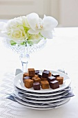 Chocolate, coconut and ginger truffles
