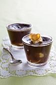 Chocolate and banana pudding