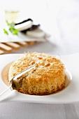 Pastete mit Auberginen-Ziegenkäse-Füllung