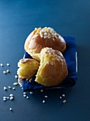 Brioche with sugar crystals