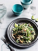 Green mango salad with young sprouts and mint dressing