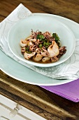 Grilled squid with a chilli and lime dressing