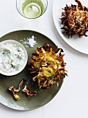 Fried artichokes with sauce gribiche
