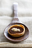 A chocolate and coconut tartlet
