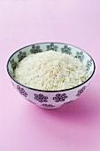 A bowl of basmati rice