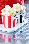 Popcorn in muffin cases