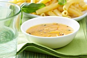 Pepper sauce with penne pasta