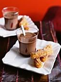 Hot chocolate and churros (Mexico)