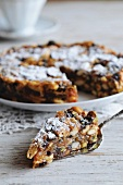 Panforte (fruit and nut cake, Tuscany, Italy)