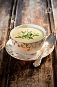 Cream of chive soup