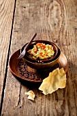 Braised aubergines (Ayurvedic cuisine)