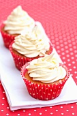 Cupcakes in red paper cases